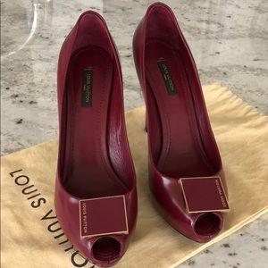7c14c4faf1 Women Louis Vuitton Peep Toe on Poshmark